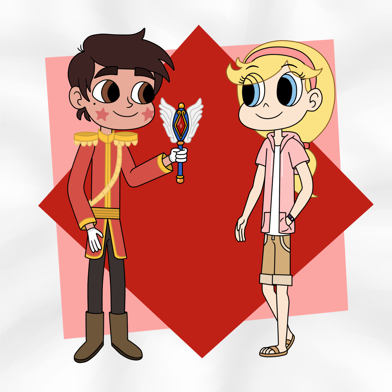Prince Marco and Stella in the role reversal by Deaf-Machbot on ...