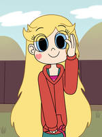 Star Butterfly wears a cute hoodie by Deaf-Machbot