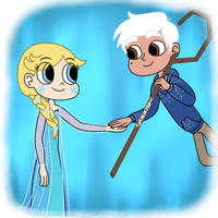 Elsa Butterfly and Marco Frost in Melting Hearts by Deaf-Machbot