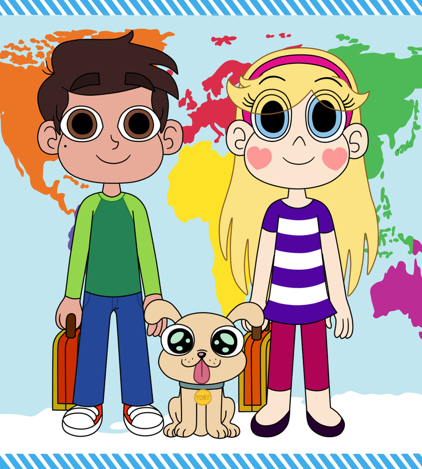 Marco, Star, and Toby in Little Passports by Deaf-Machbot on DeviantArt