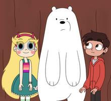 Star is standing like Ice Bear by Deaf-Machbot