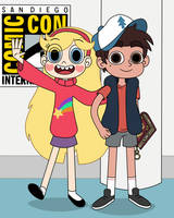 Star and Marco wear the cosplays of Twin Pines by Deaf-Machbot