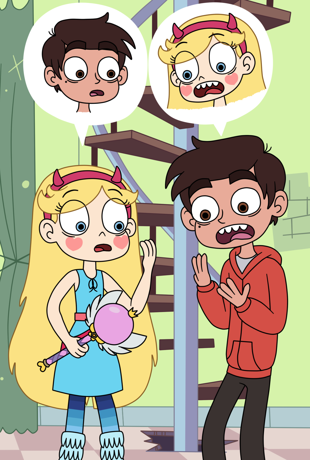 Star Butterfly and Marco Diaz in a body swap by Deaf ...
