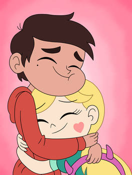 Marco and Star come back to happy hug again! by Deaf-Machbot