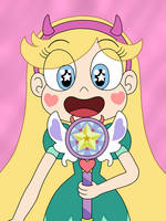 Star Butterfly has made a new wand herself by Deaf-Machbot