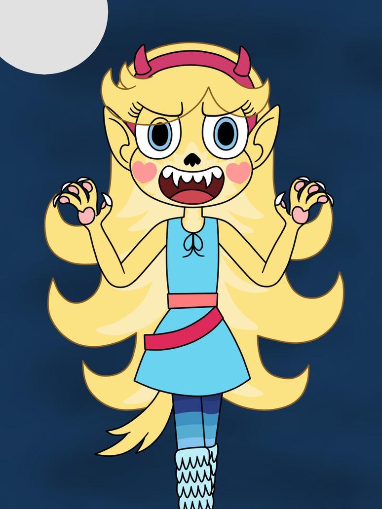 Star Butterfly Turned Into A Werewolf By Deaf Machbot On