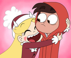 Star clings to Marco in Stump Day by Deaf-Machbot