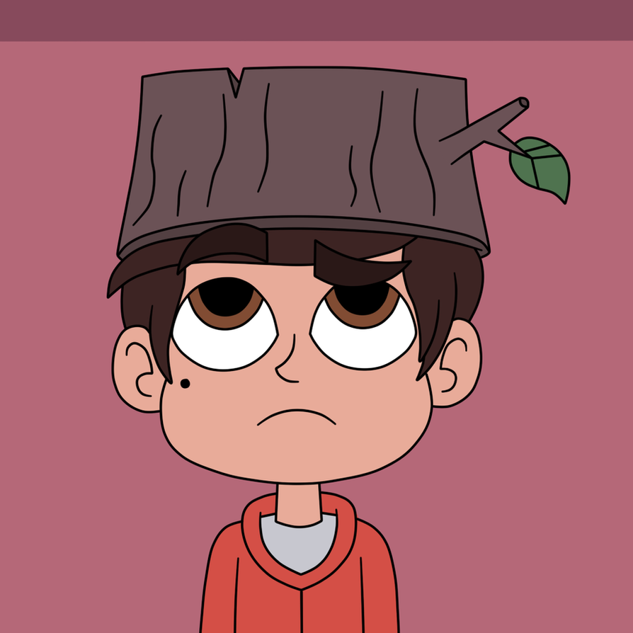 Marco Diaz wears a hat of Stump Day by Deaf-Machbot