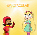 Wordgirl gives a word to Star