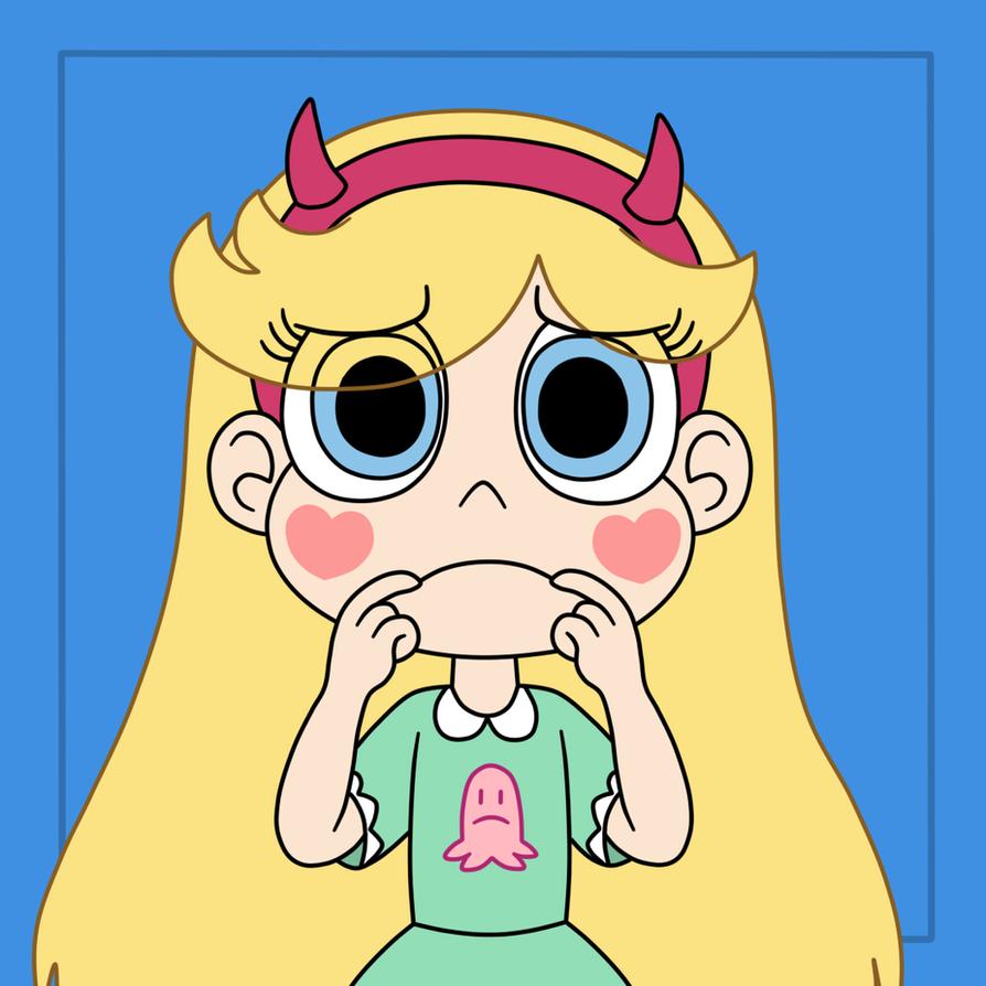 Star makes a sad face by Deaf-Machbot