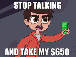 Marco Diaz asks stop talking and take my $650 by Deaf-Machbot