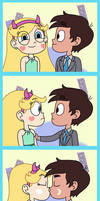Starco gets a first kiss in the photo booth! by Deaf-Machbot