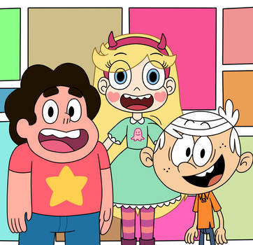 Steven, Star, and Lincoln in the crossover meeting