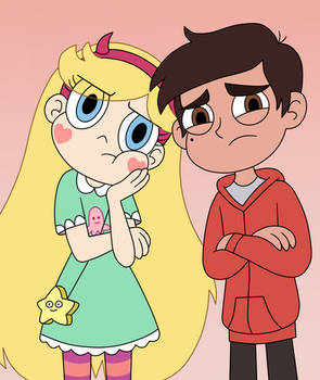 Star and Marco are skeptical at the theatre show by Deaf-Machbot