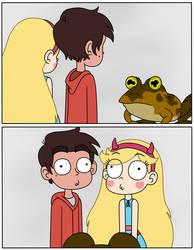 Marco and Star got hypnotized by Hypnotoad by Deaf-Machbot
