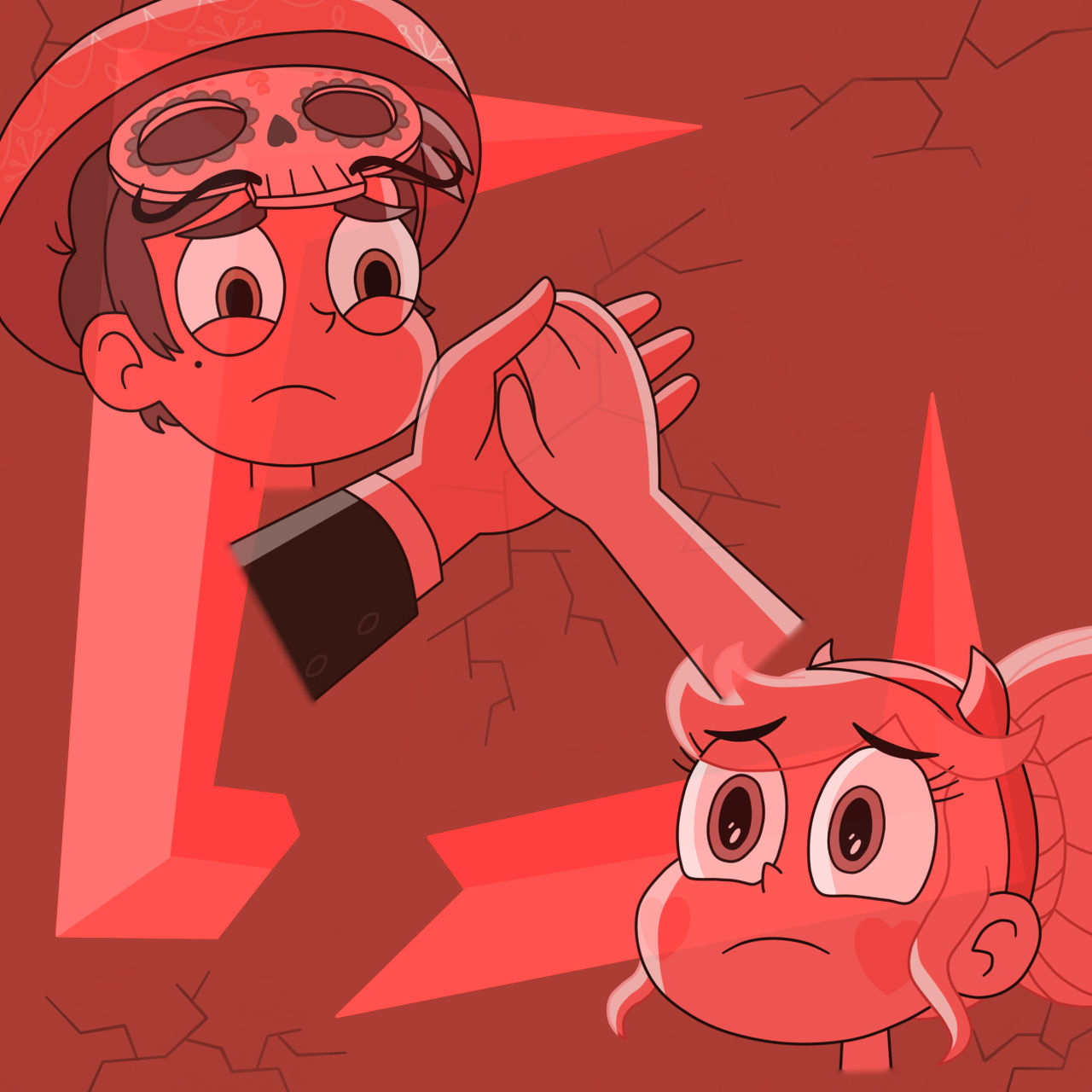 Star and Marco break the curse of the Blood Moon by Deaf