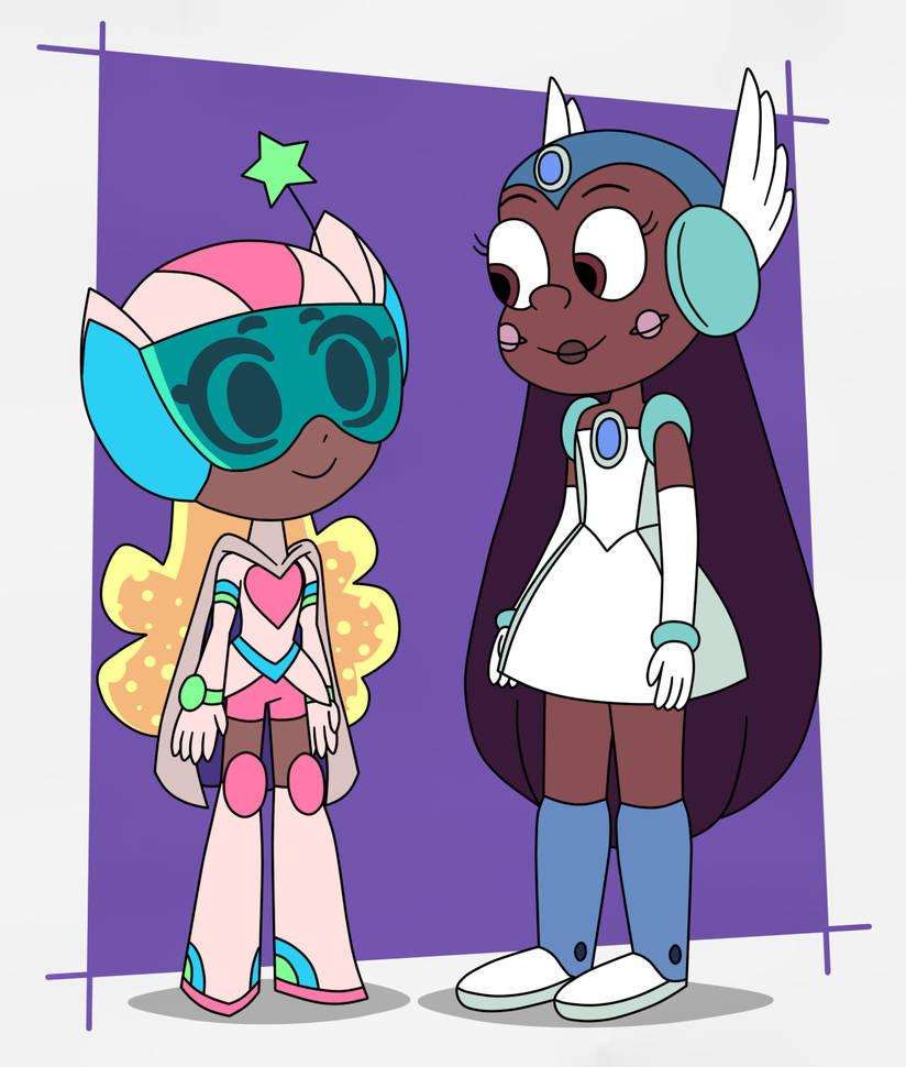 Quasar Caterpillar meets Stella from Space Unicorn by Deaf-Machbot