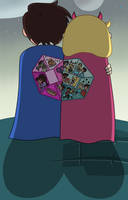 Marco and Star had made the capes for each other by Deaf-Machbot