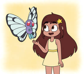 Mariposa Diaz and Butterfree are too cute by Deaf-Machbot