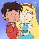Star and Marco hug together at a wonderful ending