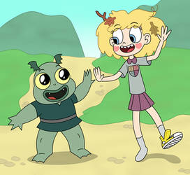 Star Boonchuy and Katrina in Amphibia by Deaf-Machbot