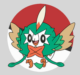 Rowlet wears Decidueye cloak is too cool and cute