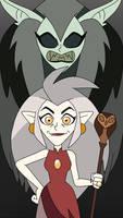 Eda was cursed to transform into a scary owl demon