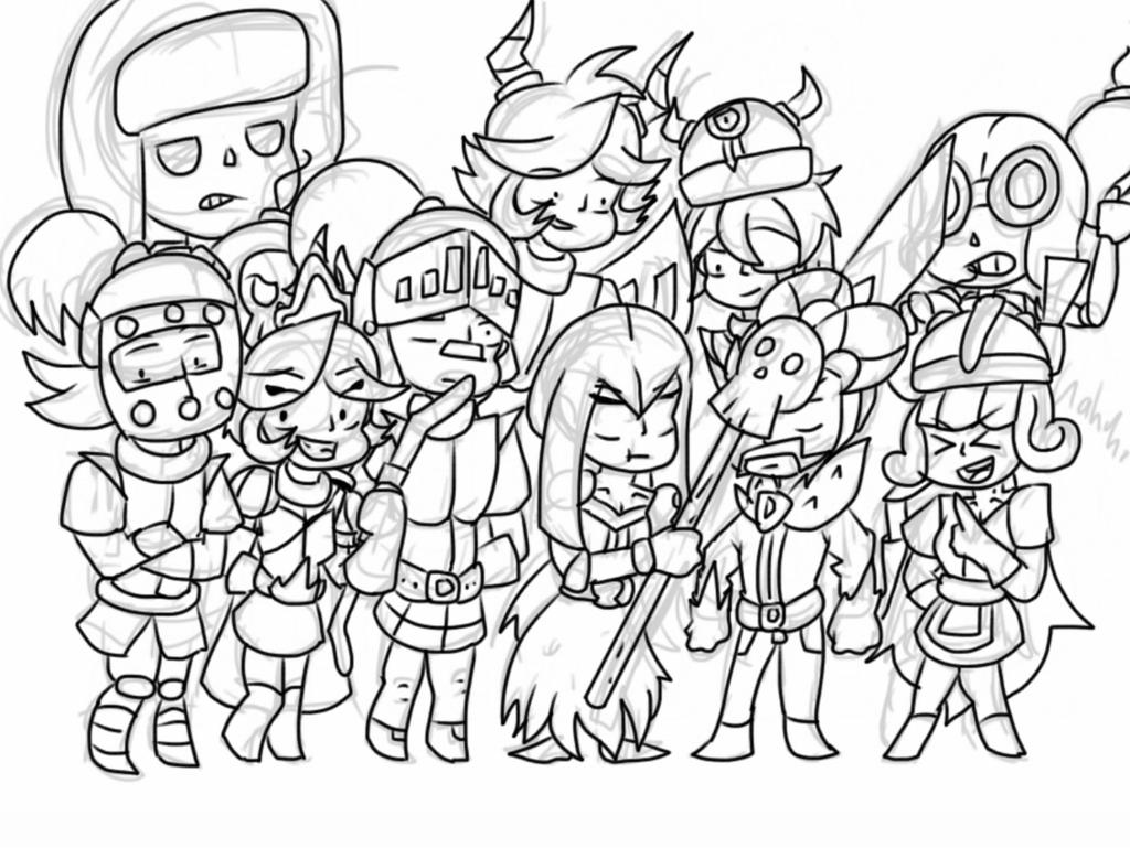 clash royale tribute lineart by blueycraft on deviantart