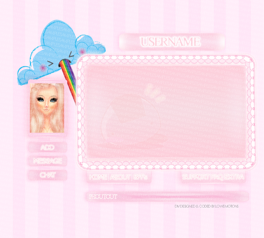 Kawaii div layout for imvu by xxouricons on deviantart for Homepage shop