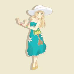 Pokemon Sun and Moon - Dancer Lillie by chocomiru02