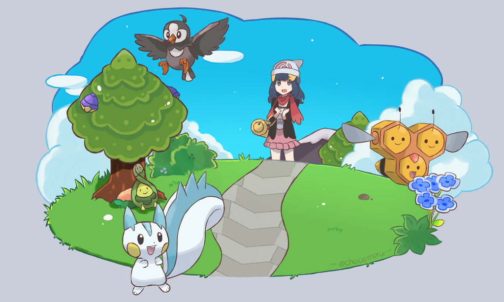 Sinnoh Remake - Promotional Art by chocomiru02