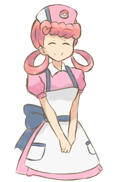 Pokemon  Sketch - Nurse Joy by chocomiru02