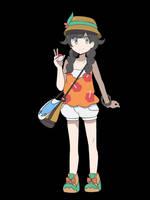 Pokemon USUM - Protagonist Anime Style by chocomiru02