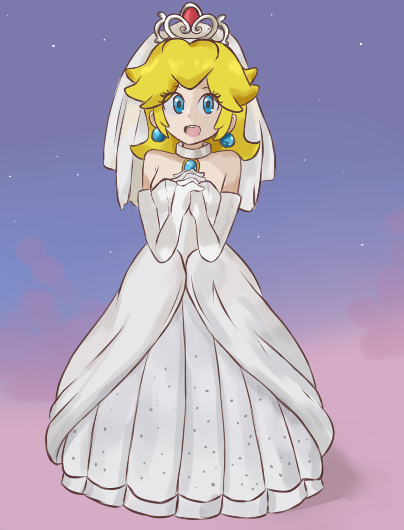 Princess Peach Wedding Dress Wedding