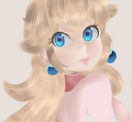 Super Mario Bros - Princess Peach Portrait by chocomiru02