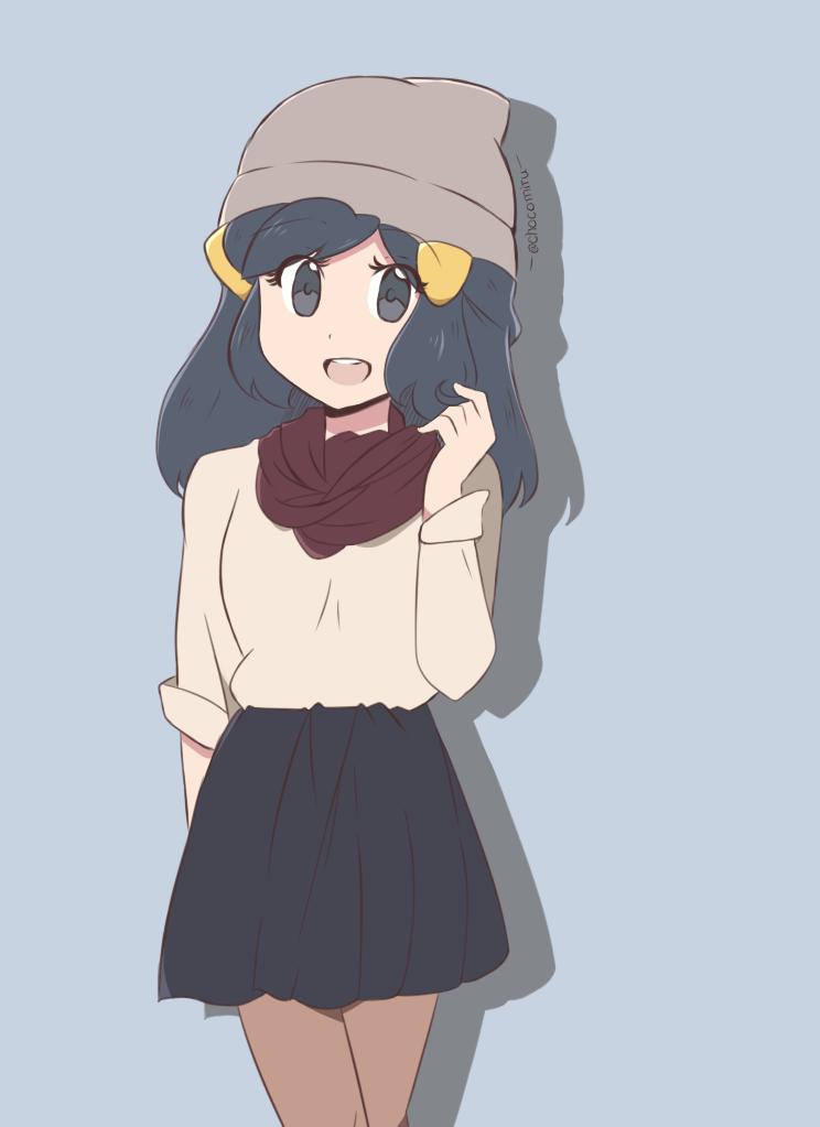 Pokemon USM - Dawn Modern Outfit by chocomiru02