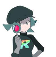 Pokemon USUM - Rainbow Rocket Grunt by chocomiru02