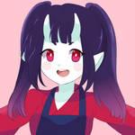 Commission - Oni Girl