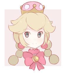 Super Mario Bros - Princess Peachette (Sketch) by chocomiru02