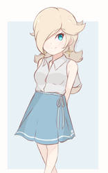 Princess Rosalina - Casual Outfit (Colored Sketch) by chocomiru02