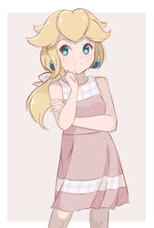 Princess Peach - Summer Dress (Colored Sketch) by chocomiru02