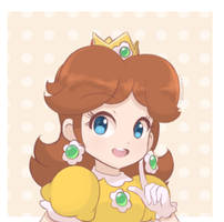 Princess Daisy - Portrait (2019) by chocomiru02