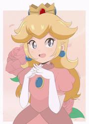 Princess Peach - 1980's Half Body (Remaster) by chocomiru02