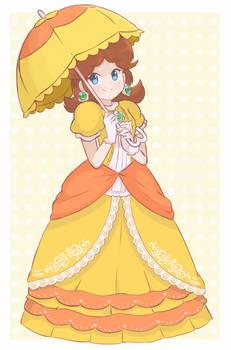 Princess Daisy - Parasol (Full Body) by chocomiru02