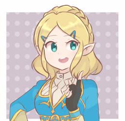 Princess Zelda - BOTW (Short Hair) by chocomiru02