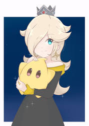 Princess Rosalina and Luma - Black and Gold Alt by chocomiru02