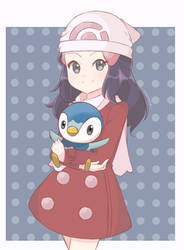 Pokemon - Dawn and Piplup by chocomiru02