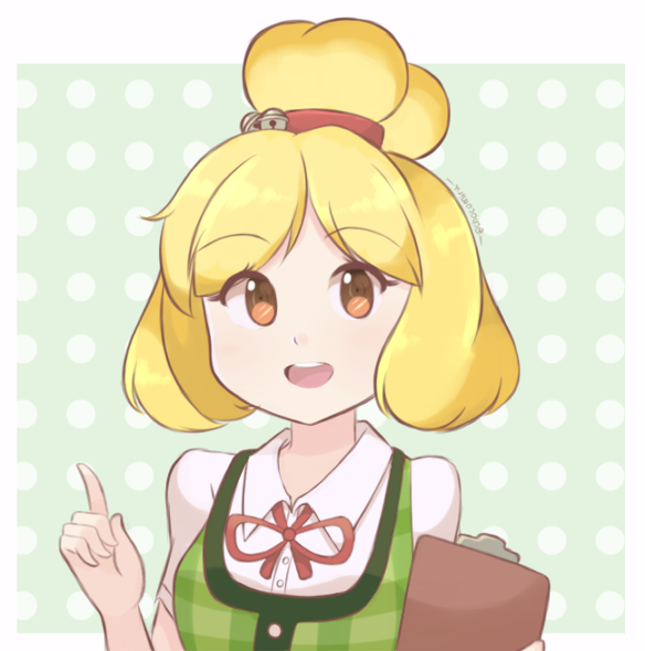 ACNL - Isabelle Personification (Redraw) by chocomiru02