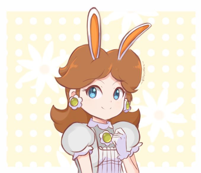 Princess Daisy - Bunny Hood Happy Easter! by chocomiru02