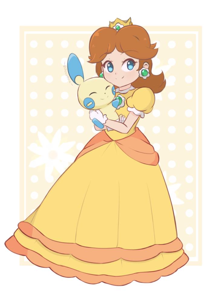 Princess Daisy And Minun